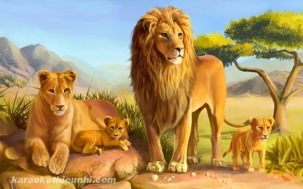 Tên các con vật bằng tiếng Anh: con sư tử - lion